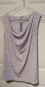 Banana Republic top taupe and white pattern